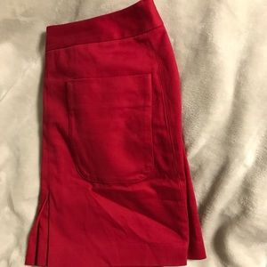 Red Loft Skirt with Cute Front Pockets